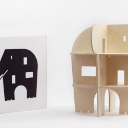 Domek dla lalek w kształcie słonia