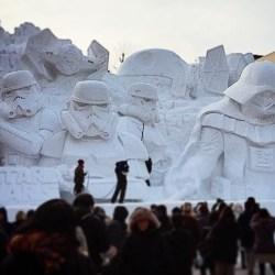 Reźba Star Wars ze śniegu