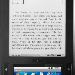 Ebook reader Alex firmy Spring Design