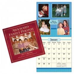 Kalendarz pełen dziwnych rodzinnych zdjęć