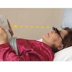 Okulary do czytania na leżąco