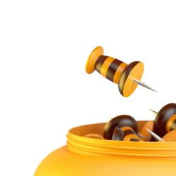 Pinezki w formie pszczół