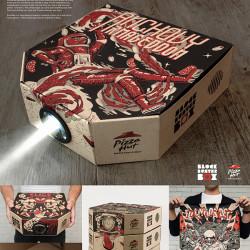 Pudełko na pizzę jako projektor