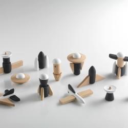 Magnetyczne drewniane klocki