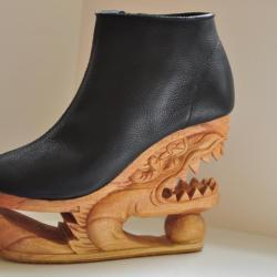 Buty na wyjątkowym koturnie