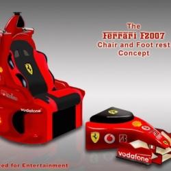Fotel Ferrari z podnóżkiem