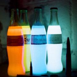 Butelki świecące w ciemności