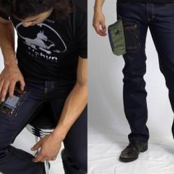 Spodnie z kieszonką na iPhone'a