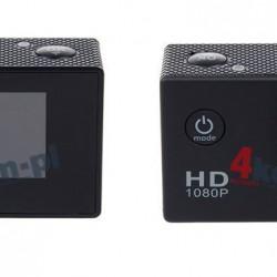 Kamera Sportowa Full HD Wodoodporna + Wyposażenie Czarna - Czarny