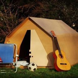 Namiot z kartonu
