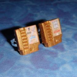 Kolczyki w formie kartridżów