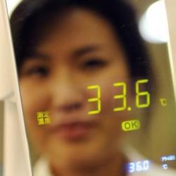 Lustro z termometrem