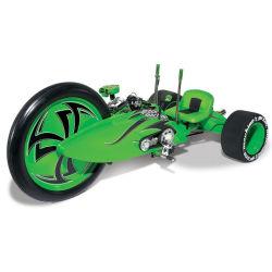 Zielony motocykl