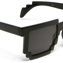 Okulary przeciwsłoneczne w 8-bitowym stylu