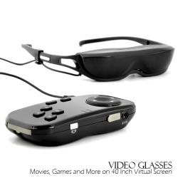 Okulary video w kieszeni
