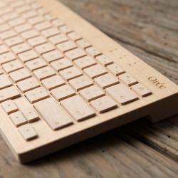 Drewniana klawiatura Bluetooth