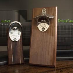 Drewniany otwieracz do butelek z magnesem