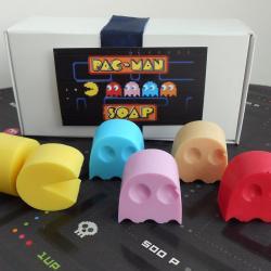 Mydła w kształcie bohaterów Pac-Mana