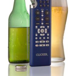 Pilot do telewizora z otwieraczem do piwa