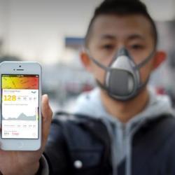 Maska badająca zanieczyszczenie w mieście