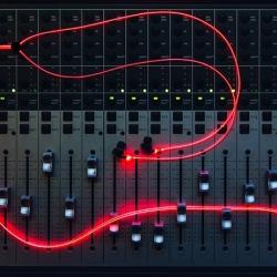 Słuchawki z laserowym światłem