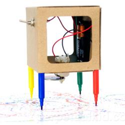 Robot z flamastrami