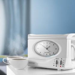 Budzik z funkcją robienia herbaty