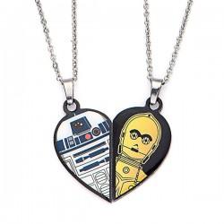 Naszyjnik dla najlepszych przyjaciół z motywem Star Wars