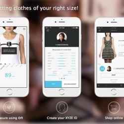 Centymetr pomagający w zakupach online