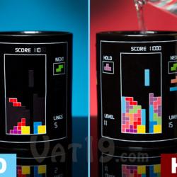 Kubek z Tetris reagujący na ciepło