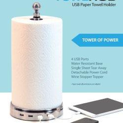 USB w stojaku na papierowe ręczniki