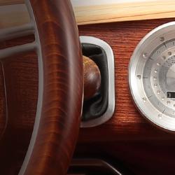 Wyjątkowa Toyota z elementami z drewna