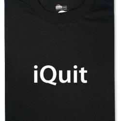 Koszulka z nadrukiem iQuit