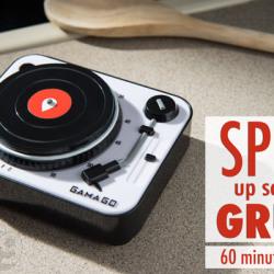 Minutnik w formie gramofonu