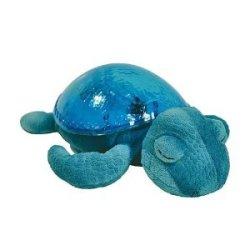 Pluszowy żółw z łagodnym światłem